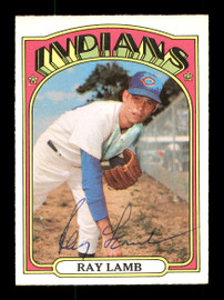 Ray Lamb Autographed 1972 O-Pee-Chee Card #422 Cleveland Indians SKU #169187