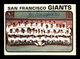 Joe Amalfitano Autographed 1973 O-Pee-Chee Team Card #434 San Francisco Giants Coach SKU #169269