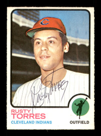 Rusty Torres Autographed 1973 O-Pee-Chee Card #571 Cleveland Indians SKU #169296