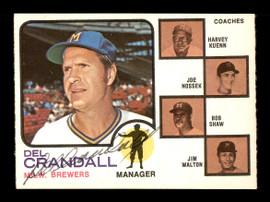 Del Crandall Autographed 1973 O-Pee-Chee Card #646 Milwaukee Brewers SKU #169326