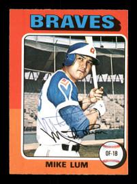 Mike Lum Autographed 1975 O-Pee-Chee Card #154 Atlanta Braves SKU #169381