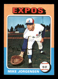 Mike Jorgensen Autographed 1975 O-Pee-Chee Card #286 Montreal Expos SKU #169397