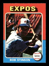 Bob Stinson Autographed 1975 O-Pee-Chee Card #471 Montreal Expos SKU #169403
