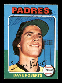 Dave Roberts Autographed 1975 O-Pee-Chee Card #558 San Diego Padres SKU #169413