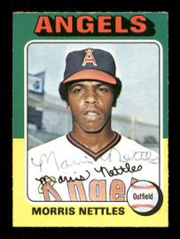 Morris Nettles Autographed 1975 O-Pee-Chee Rookie Card #632 California Angels SKU #169427