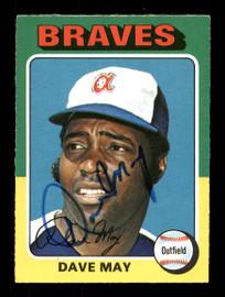 Dave May Autographed 1975 O-Pee-Chee Card #650 Atlanta Braves SKU #169429