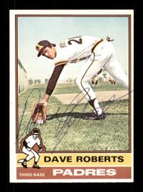 Dave Roberts Autographed 1976 O-Pee-Chee Card #107 San Diego Padres SKU #169440