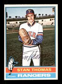 Stan Thomas Autographed 1976 O-Pee-Chee Card #148 Texas Rangers SKU #169442