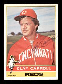 Clay Carroll Autographed 1976 O-Pee-Chee Card #211 Cincinnati Reds SKU #169444