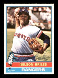 Nellie Briles Autographed 1976 O-Pee-Chee Card #569 Texas Rangers SKU #169469