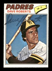 Dave Roberts Autographed 1977 O-Pee-Chee Card #193 San Diego Padres SKU #169519