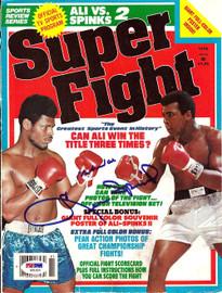 Muhammad Ali & Leon Spinks Autographed Magazine Cover PSA/DNA #S01555