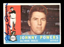 Johnny Powers Autographed 1960 Topps Card #422 Baltimore Orioles SKU #169675