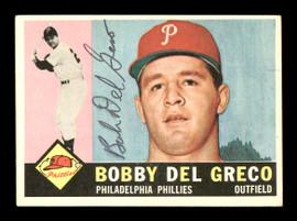 Bobby Del Greco Autographed 1960 Topps Card #486 Philadelphia Phillies SKU #169705