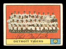 Paul Foytack Autographed 1961 Topps Team Card #51 Detroit Tigers SKU #169741