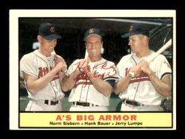 Hank Bauer Autographed 1961 Topps Card #119 Kansas City A's SKU #169765