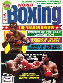Muhammad Ali & Ken Norton Autographed Boxing World Magazine Cover PSA/DNA #S01573