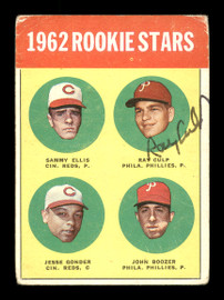 Ray Culp Autographed 1963 Topps Rookie Card #29 Philadelphia Phillies SKU #170052