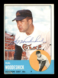 Hal Woodeshick Autographed 1963 Topps Card #517 Houston Colt .45's SKU #170203