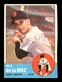 Mike De La Hoz Autographed 1963 Topps Card #561 Cleveland Indians High Number SKU #170217