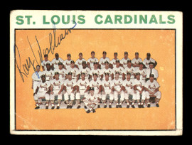 Ray Washburn Autographed 1964 Topps Team Card #87 St. Louis Cardinals SKU #170240