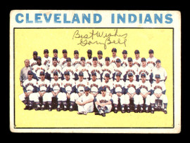 Gary Bell Autographed 1964 Topps Team Card #172 Cleveland Indians SKU #170259