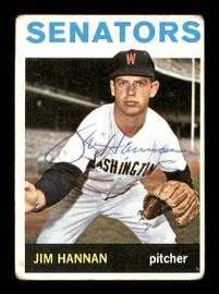 Jim Hannan Autographed 1964 Topps Card #261 Washington Senators SKU #170273