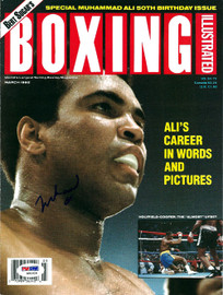 Muhammad Ali Autographed Boxing Illustrated Magazine Cover PSA/DNA #S01626