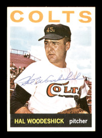Hal Woodeshick Autographed 1964 Topps Card #370 Houston Colt .45's SKU #170299