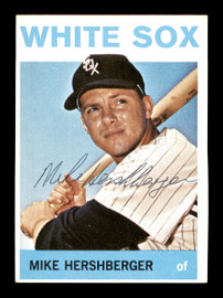Mike Hershberger Autographed 1964 Topps Card #465 Chicago White Sox SKU #170329