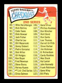 Bobby Richardson Autographed 1965 Topps Checklist Card #104 New York Yankees SKU #170413