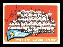 Derrell Griffith Autographed 1965 Topps Team Card #126 Los Angeles Dodgers SKU #170419