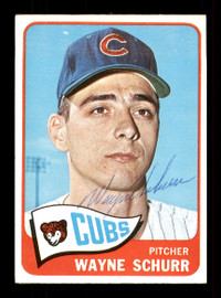 Wayne Schurr Autographed 1965 Topps Card #149 Chicago Cubs SKU #170427