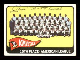 Jose Tartabull Autographed 1965 Topps Team Card #151 Kansas City A's SKU #170429