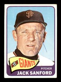 Jack Sanford Autographed 1965 Topps Card #228 San Francisco Giants SKU #170444