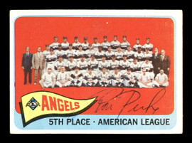 Ron Piche Autographed 1965 Topps Team Card #293 Los Angeles Angels SKU #170467