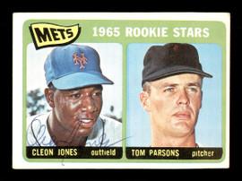 Cleon Jones Autographed 1965 Topps Rookie Card #308 New York Mets SKU #170476