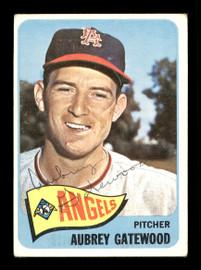 Aubrey Gatewood Autographed 1965 Topps Card #422 Los Angeles Angels SKU #170520