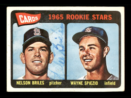 Nellie Briles Autographed 1965 Topps Rookie Card #431 St. Louis Cardinals SKU #170523