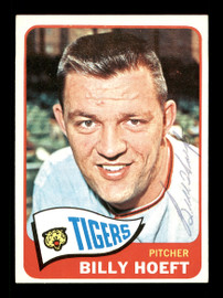 Billy Hoeft Autographed 1965 Topps Card #471 Detroit Tigers SKU #170540