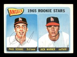 Paul Schaal Autographed 1965 Topps Rookie Card #517 Los Angeles Angels SKU #170557