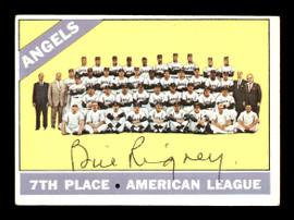 Bill Rigney Autographed 1966 Topps Team Card #131 California Angels SKU #170613