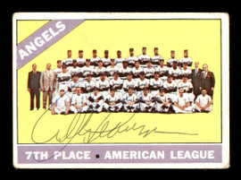 Albie Pearson Autographed 1966 Topps Team Card #131 California Angels SKU #170615