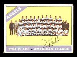 Ed Sukla Autographed 1966 Topps Team Card #131 California Angels SKU #170618