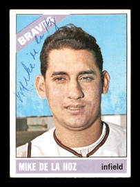 Mike De La Hoz Autographed 1966 Topps Card #346 Atlanta Braves SKU #170674