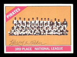 Harry Walker Autographed 1966 Topps Team Card #402 Pittsburgh Pirates SKU #170686