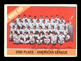 Dennis Higgins Autographed 1966 Topps Team Card #426 Chicago White Sox SKU #170693