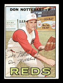 Don Nottebart Autographed 1967 Topps Card #269 Cincinnati Reds SKU #170824