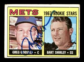 Greg Goossen Autographed 1967 Topps Rookie Card #287 New York Mets SKU #170827