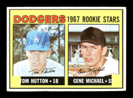Tom Hutton Autographed 1967 Topps Rookie Card #428 Los Angeles Dodgers SKU #170890